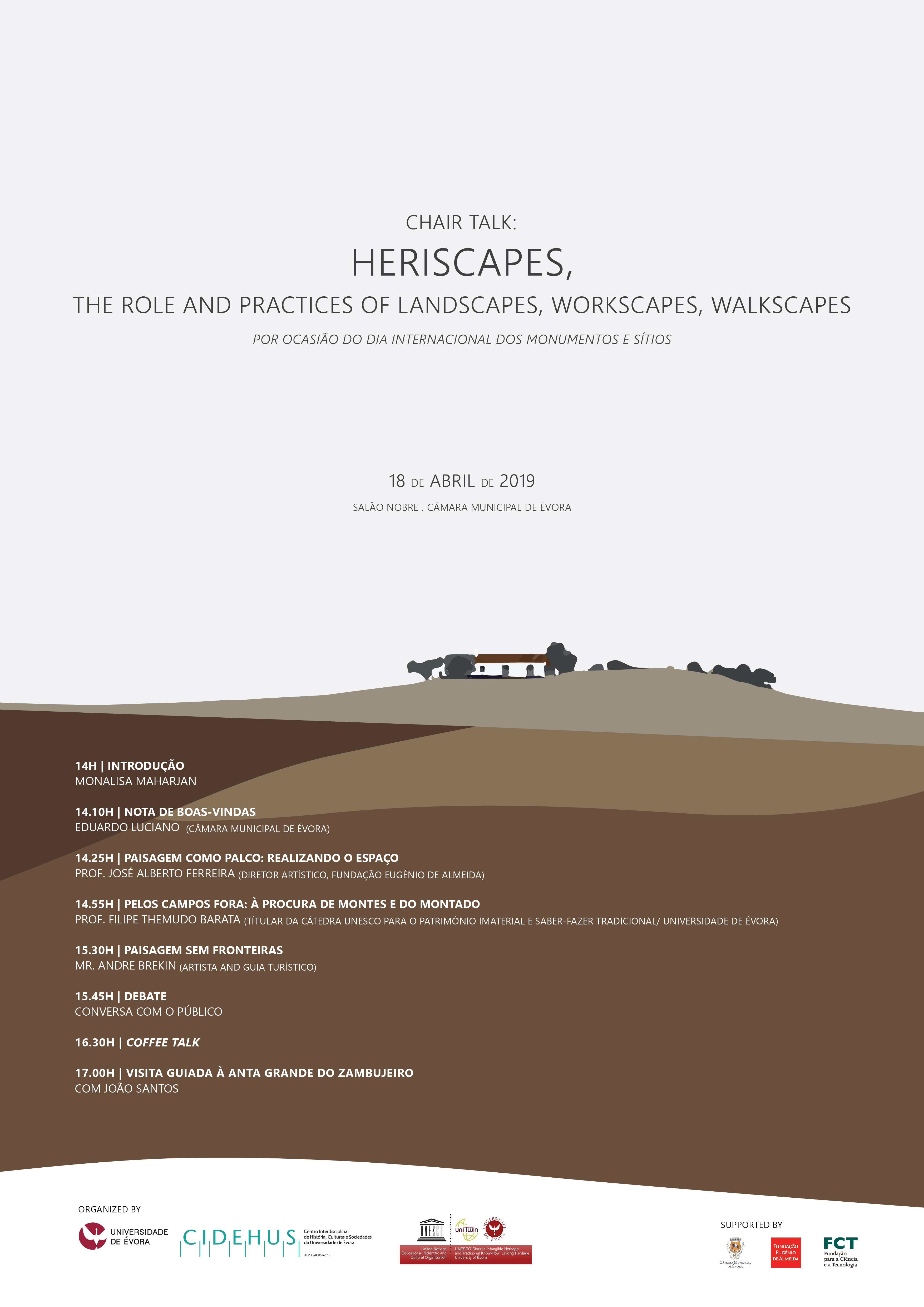 HERISCAPES, the role and practices of landscapes, workscapes, walkscapes